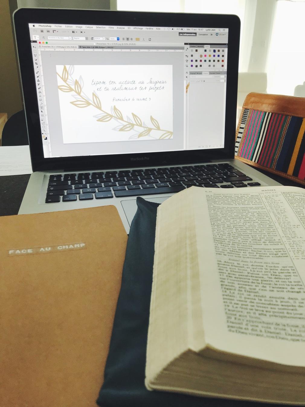 Face au champ blog ordinateur work in progress bible verset carte verset